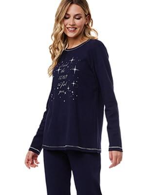 Πυτζάμα Γυναικεία MINERVA STARS -100% Βαμβάκι Interlock- Χειμώνας 2021/22
