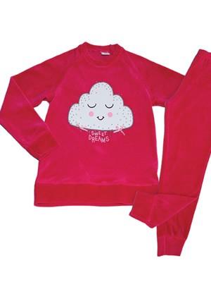 Παιδική Πυτζάμα για κορίτσι Minerva Velvet Cloud - Βελουτέ - Γυαλιστερές Επιφάνειες - Hot Pick 18/19