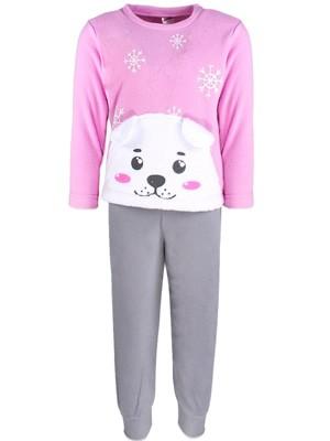 Παιδική Πυτζάμα Minerva για κορίτσι Bear - Ζεστό & Απαλό Fleece - Hot Pick 18/19