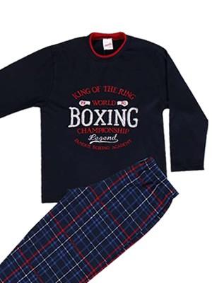 Παιδική - Εφηβική Πυτζάμα για αγόρι Minerva Boxing - 100% Aγνό Βαμβάκι - Hot Pick 18-19