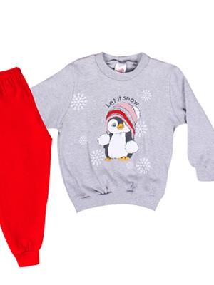 Πυτζάμα Βρεφική Minerva Penguin για κορίτσι - 100% Βαμβάκι Interlock - Χειμώνας 2018/19
