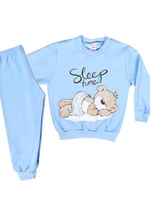 Βρεφική Πυτζάμα Minerva για αγόρι Sleep Time - 100% Aγνό Βαμβάκι - Χειμώνας 2018/19
