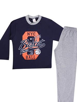 Παιδική Εφηβική Πυτζάμα Minerva για αγόρι NYC Ball - 100% Βαμβάκι Interlock - Χειμώνας 2018/19