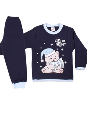 Βρεφική Πυτζάμα MINERVA για αγόρι Bear's Pillow - 100% Aγνό Βαμβάκι - Χειμώνας 2019/20