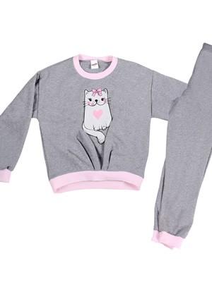 Παιδική Πυτζάμα MINERVA Bow Cat - Ζεστό & Απαλό Φούτερ - Χειμώνας 2019/20