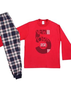 """Παιδική - Εφηβική Πυτζάμα MINERVA """"5"""" New York - 100% Aγνό Βαμβάκι - Χειμώνας 2019/20"""