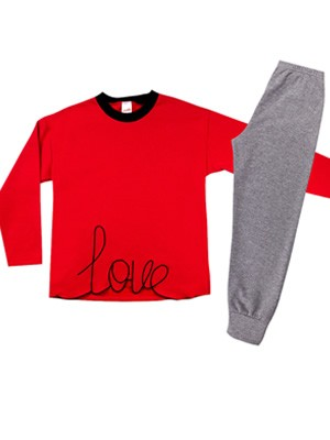 Παιδική Πυτζάμα MINERVA LOVE - Ζεστό & Απαλό Φούτερ - Χειμώνας 2020/21