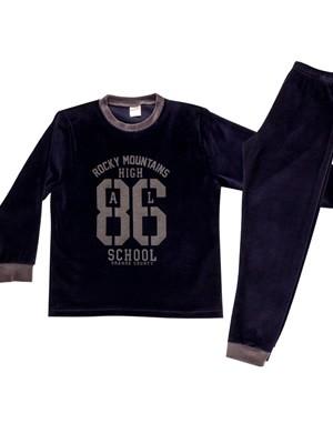 Παιδική Πυτζάμα MINERVA 86 για αγόρι - Απαλό Βελούδο- Χειμώνας 2020/21