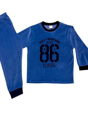 Παιδική Πυτζάμα MINERVA 86 για αγόρι - Απαλό Βελούδο - Χειμώνας 2020/21