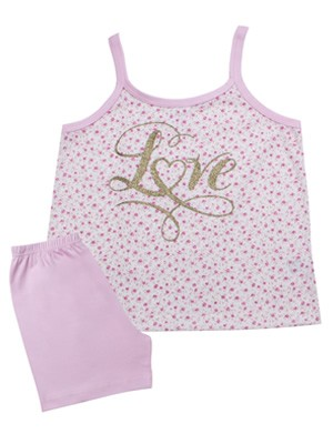 Παιδική Πυτζάμα MINERVA Love Floral - 100% Αγνό Βαμβάκι - Καλοκαίρι 2021