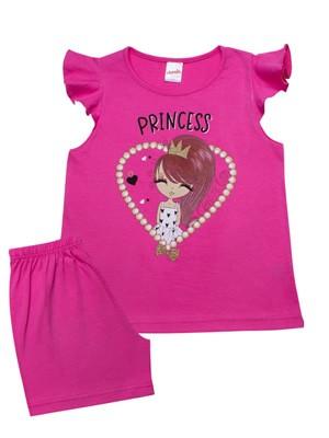 Παιδική Πυτζάμα MINERVA Pearl Princess - 100% Αγνό Βαμβάκι - Καλοκαίρι 2021