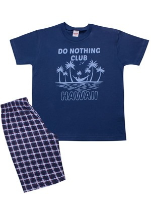 Παιδική Πυτζάμα MINERVA Hawaii - 100% Αγνό Βαμβάκι - Καλοκαίρι 2021