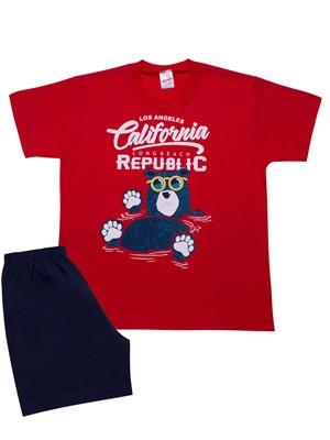 Παιδική-Εφηβική Πυτζάμα MINERVA California - 100% Αγνό Βαμβάκι - Καλοκαίρι 2021
