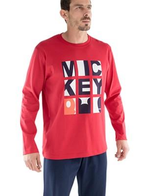 Πυτζάμα Minerva Mickey - 100% Βαμβάκι Interlock - Μεταξοτυπία