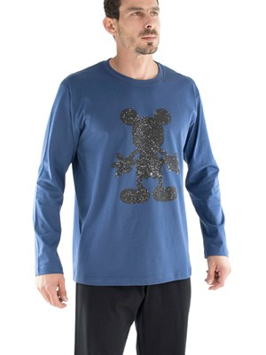 Ανδρική Πυτζάμα DISNEY MICKEY SHADOW  MINERVA - Interlock Cotton