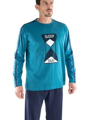 Ανδρική Πυτζάμα SLEEP TIME MINERVA - Βαμβακερή Interlock