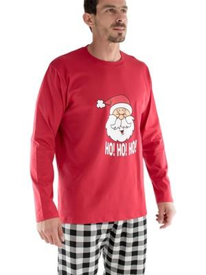 Ανδρική Πυτζάμα HO! HO! CHRISTMAS MINERVA - Interlock Βαμβακερή