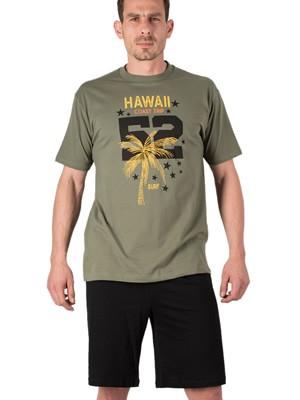 Πυτζάμα Αντρική MINERVA Bronx Hawaii - 100% Βαμβακερή - Καλοκαίρι 2019