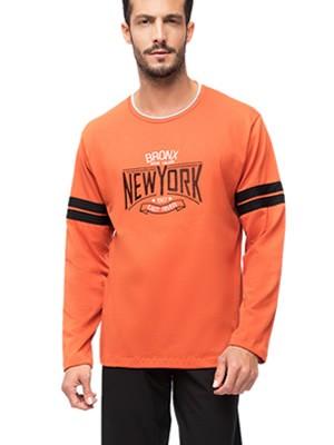 Ανδρική Πυτζάμα MINERVA NEW YORK - 100% Βαμβάκι Interlock - Χειμώνας 2019/20