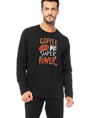 Ανδρική Πυτζάμα MINERVA Coffee - 100%  Βαμβάκι Interlock - Χειμώνας 2019/20