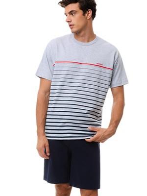 Αντρική Πυτζάμα MINERVA Stripes - 100% Βαμβακερή - Καλοκαίρι 2021