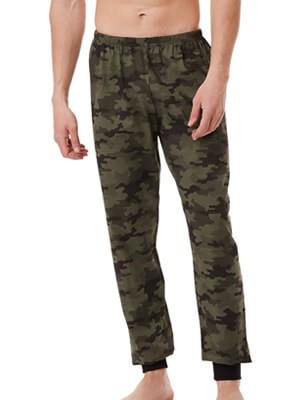 MINERVA Ανδρικό Παντελόνι Homewear - Army Print - 100% Βαμβάκι Interlock - Χειμώνας 2021/22