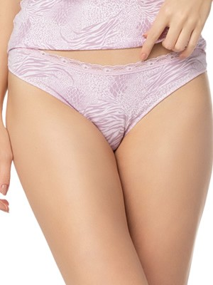 Γυναικείο Brazilian Slip MINERVA 673 - Φυτικό Modal & Δαντέλα