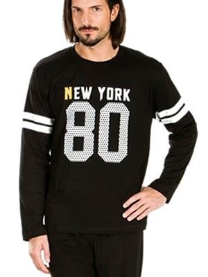 Ανδρική Homewear τύπου Φόρμας MINERVA NEW YORK 80 Βαμβακερή Interlock