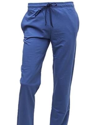 Ανδρικό Παντελόνι Homewear  τύπου φόρμας MINERVA - Βαμβακερό Interlock Μπλε