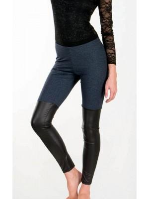 Κολάν Παντελόνι Minerva Jean & Δέρμα - Σχέδιο Γκέτες