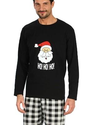 Ανδρική Πυτζάμα HO! HO! CHRISTMAS MINERVA - Βαμβακερή Interlock