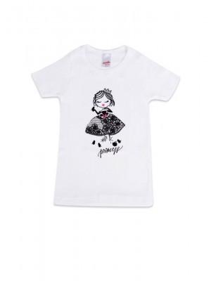 Παιδική- Εφηβική  Φανέλα Μινέρβα ΠΑΡΑΜΥΘΙ - για κορίτσι - 100% Αγνό Βαμβάκι - Mεταξοτυπία με Glitter