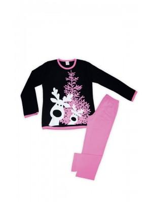 Παιδική Πυτζάμα Minerva για κορίτσι CHRISTMAS - 100% Αγνό Βαμβάκι Interlock