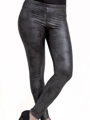 Κολάν Παντελόνι My Wrap Leather Look  - Σατινέ Σχέδιο Snake - Bελούδινη Eπένδυση