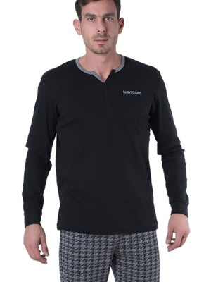 Ανδρική Πυτζάμα Homewear Navigare - 100% Βαμβάκι Interlock - All Over Σχέδιο