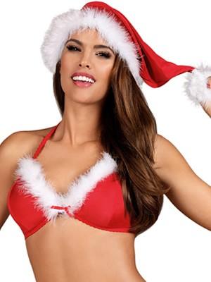 OBSESSIVE Santastic Cap - Χριστουγεννιάτικος Σατινέ Σκούφος