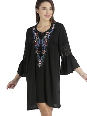 Φόρεμα Beachwear RACHEL - Αέρινο Ύφασμα - Σχέδιο Κέντημα - Καλοκαίρι 2021
