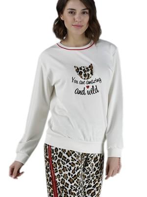 Γυναικεία Πυτζάμα RACHEL - Fleece Παντελόνι - Animal Print - Smart Choise FW20/21