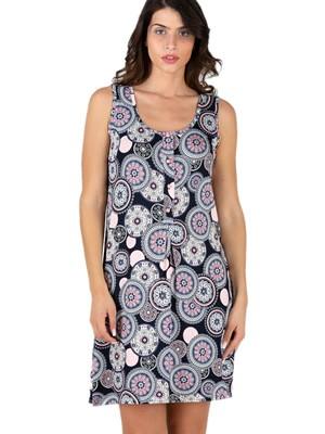 Φόρεμα RACHEL - Αέρινο Ύφασμα - All Over Σχέδιο & Κουμπιά - Καλοκαίρι 2021