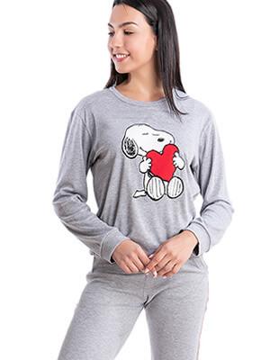 Πυτζάμα Γυναικεία RACHEL Snoopy - 100% Βαμβακερή - Χειμώνας 2021/22
