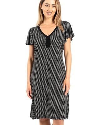 Φόρεμα SECRET POINT - Απαλό Viscose - All Over Σχέδιο - Καλοκαίρι 2021