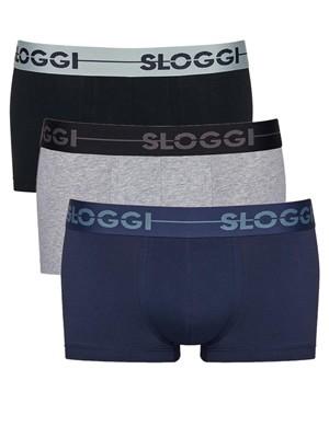 SLOGGI Men Go H Hipster M008 - Αγνό Βαμβάκι - Πακέτο με 3