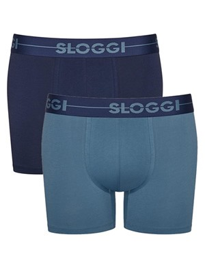 SLOGGI Men Go H Short M008 - Αγνό Βαμβάκι - Πακέτο με 2
