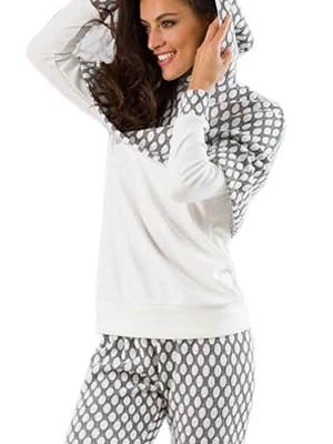 Πυτζάμα Γυναικεία Venere - 100% Γεμάτο Πλεχτό Βαμβάκι - Κάπα με Κουκούλα - Χειμώνας 2018/19