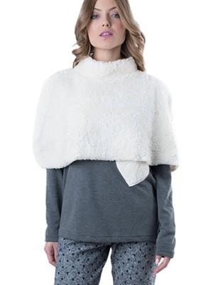 Set Homewear Γυναικείο 3 Τεμαχίων Venere - Γεμάτο Ζεστό Βαμβάκι - Γούνινη Κάπα - Χειμώνας 2018/19