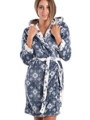 Ρόμπα Πολυτελείας VIENETTA - Απαλό Fleece - All Over Σχέδιο - Smart Pick 19/20