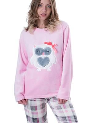 Πυτζάμα Homewear Vienetta - Ζεστό Fleece - Καρό Παντελόνι - Χειμώνας 2018/19