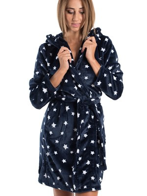 Ρόμπα Πολυτελείας VIENETTA - Απαλό Fleece - All Over Σχέδιο Αστέρια - Smart Pick 19/20