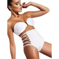 Μαγιό Bluepoint Ψηλοκάβαλο Brasilian Bikini - Λωρίδες Ανοίγματα