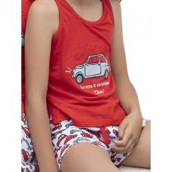 Παιδική Πυτζάμα ADMAS La Dolce Vita για κορίτσι - 100% Βαμβακερή - Καλοκαίρι 2020